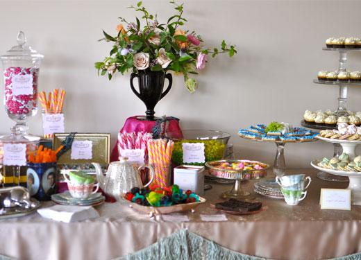 Seattle Met Bride and Groom Royal Wedding Brunch Dessert Table