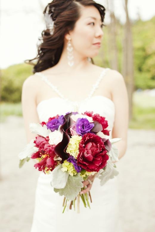 jewel toned peony bouquet