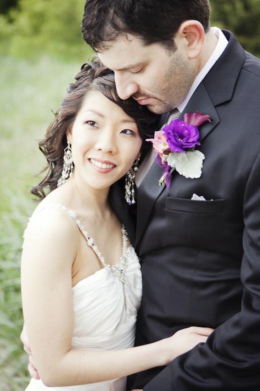 bride and groom in Golden Gardens