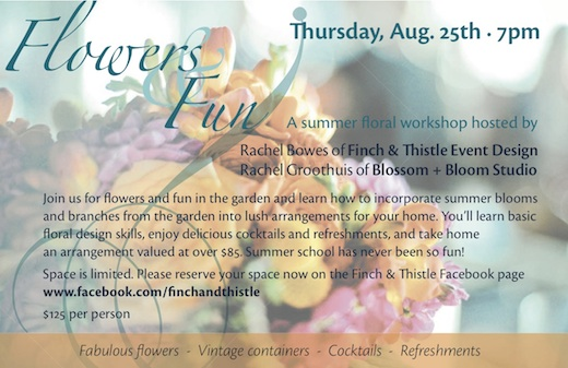 Seattle floral design workshop