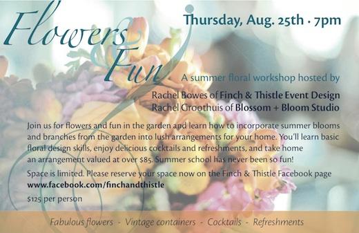 Seattle floral design workshop