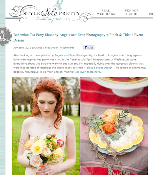 Finch & Thistle on Style Me Pretty