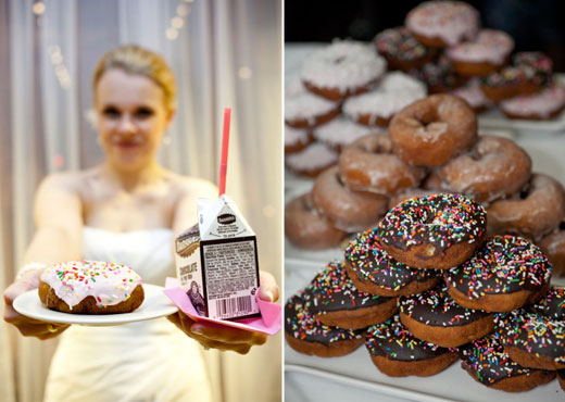 milk and donuts wedding favors