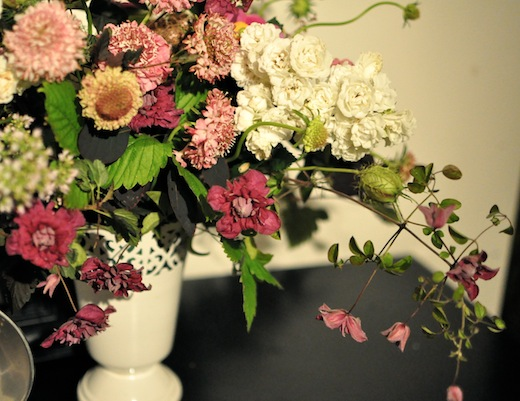 scabiosa and clematis