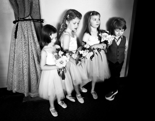 sweet little flower girls