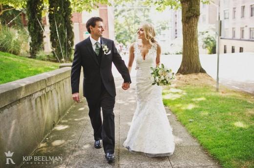 bride and groom sorrento hotel