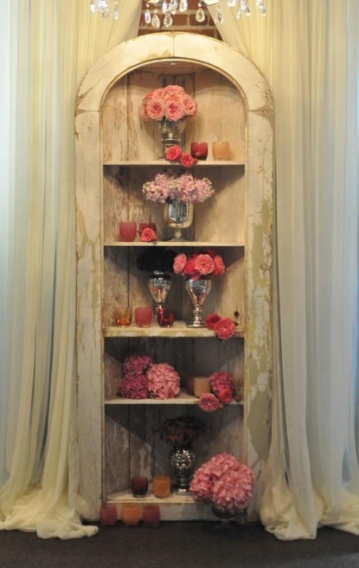 vintage cupboard altar