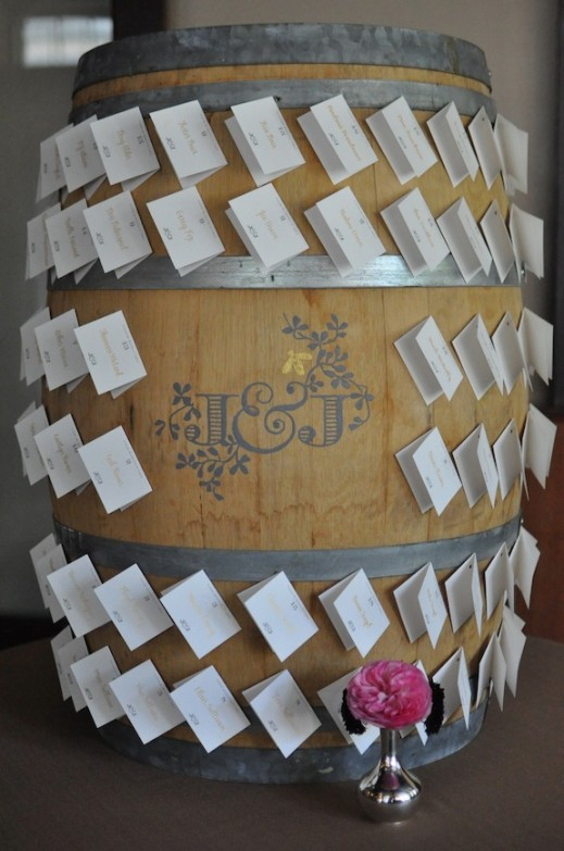 creative escort card display