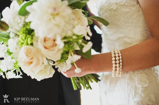 closeup white bouquet