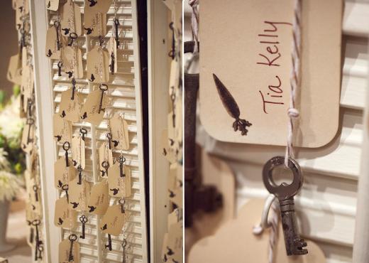 vintage key theme details wedding