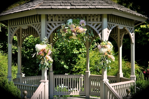 Finch & Thistle wedding arch flowers