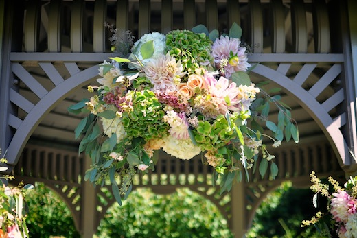 Finch & Thistle wedding arch topper