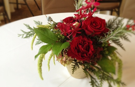 Finch & Thistle Christmas centerpiece