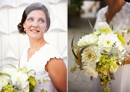 grey and green bridal bouquet seattle