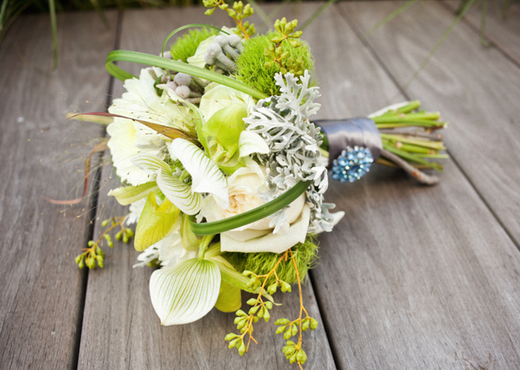 green and grey bouquet