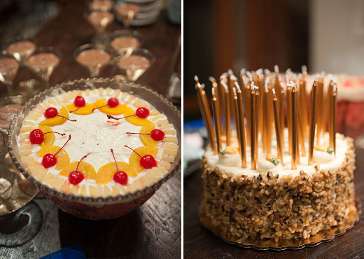 trifle and carrot cake
