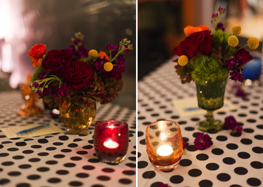 glassbaby votives and retro flowers