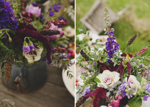 burgundy and purple wildflower bouquet