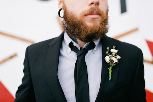 finch and thistle boutonniere