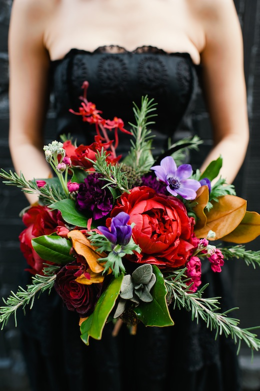 seattle bridal bouquet peony