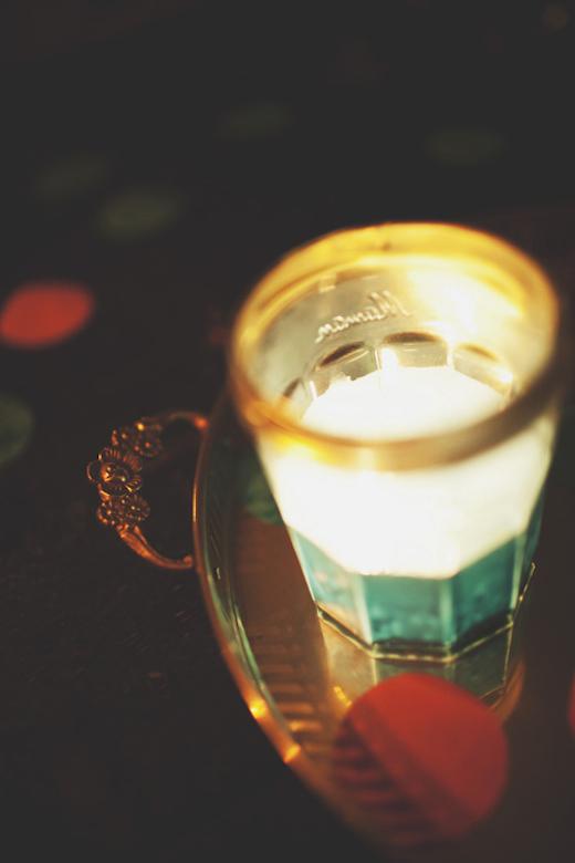 gold and turquoise jam mason jar design sponge