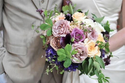 vintage bridal bouquet SODO Park seattle