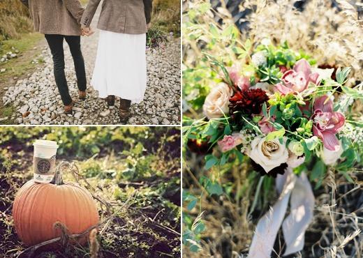 chantal andrea, starbucks pumpkin spice latte, bryce covey, pumpkins, fall, wedding, design sponge