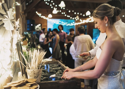 smores bar, wedding desserts, dessert bar, dessert table design sponge