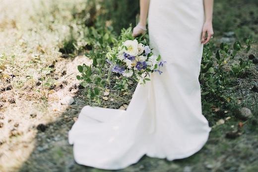 finch and thistle, event design, floral design, purple bouquet, design sponge
