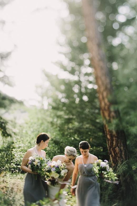 chantal andrea, purple and yellow bridesmaids, design sponge