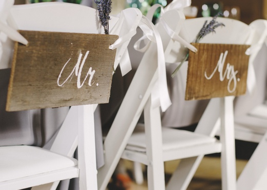 DIY bride and groom chair decor finch and thistle