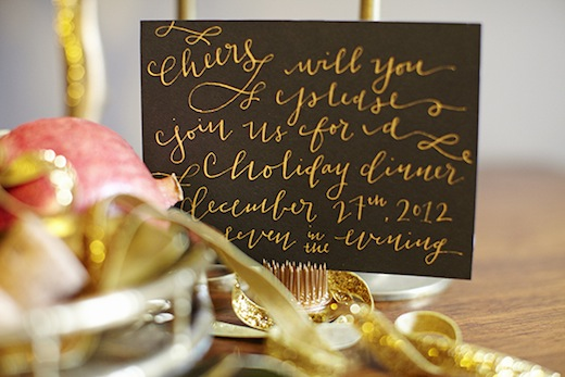 finch.thistle.pink.gold.glam.holiday.tabletop.la happy calligraphy seattle