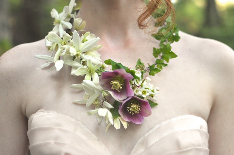 Real Flower Necklace Seattle Event Designer Finch And Thistle Design