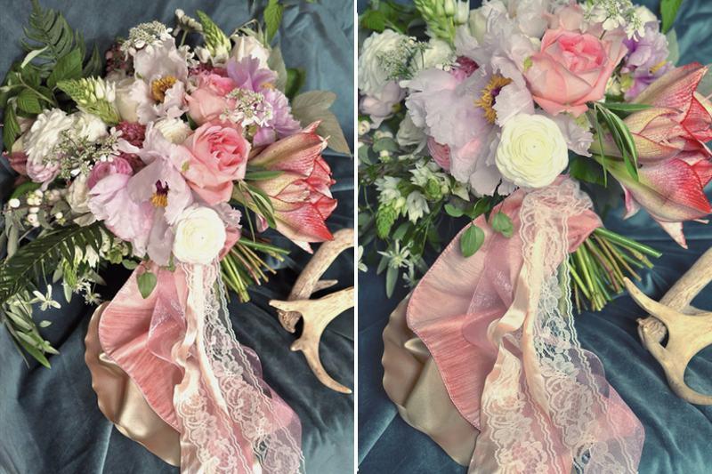 finch and thistle amaryllis bridal bouquet suncadia