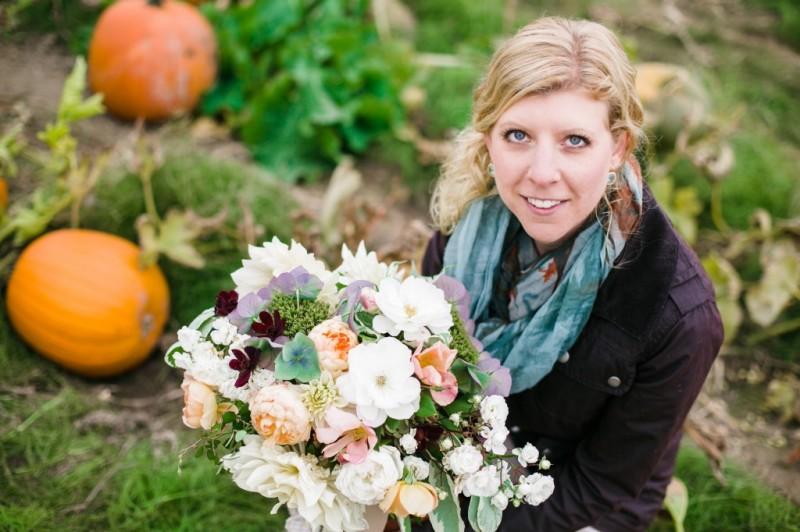 Finch & Thistle fall bridal bouquet pumpkin patch stephanie cristalli
