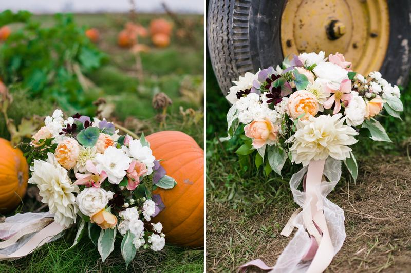Finch & Thistle fall bridal bouquet pumpkin patch
