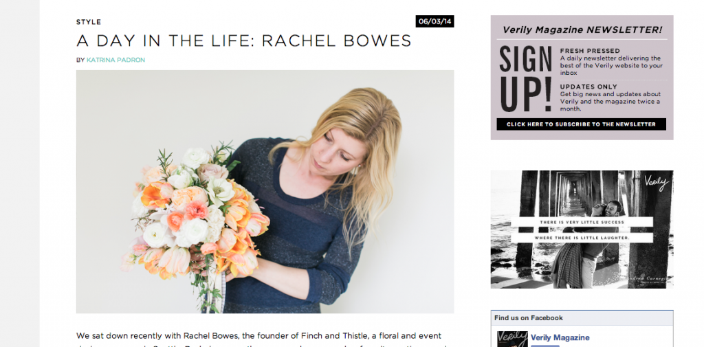 Verily Magazine Rachel Bowes