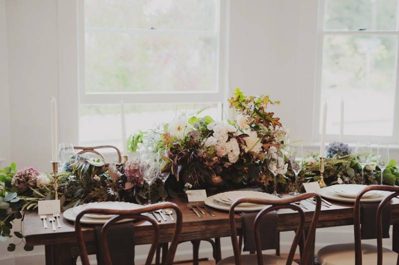PNW elopement finch and thistle event design