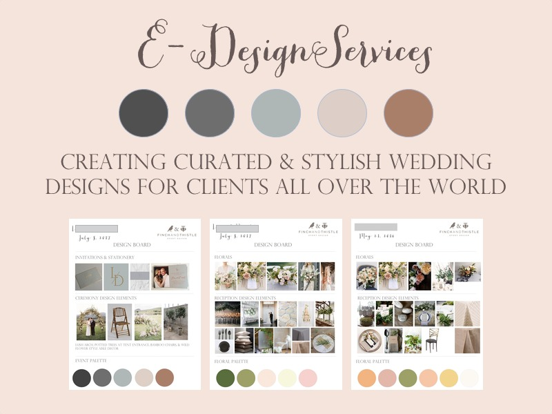 E-Design wedding service Finch Thistle Weddings