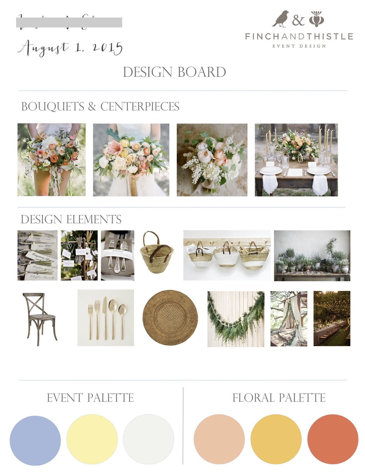 e-design, mood board, design board, weddings